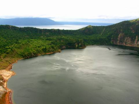Caldera Lake in the Taal Volcano located in Batangas Philippines.