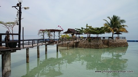 Little Samal: a man-made islet where several huts and hammocks are available for guests.