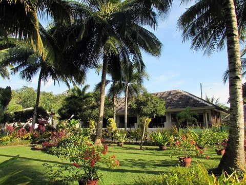 One of the villas of the resort. Access to the area is restricted to overnight guests only.