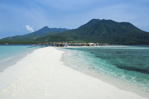 White sand beach of Camiguin Island in Mindanao Philippines.