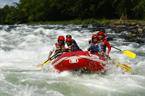 White water rafting in Cagayan de Oro.