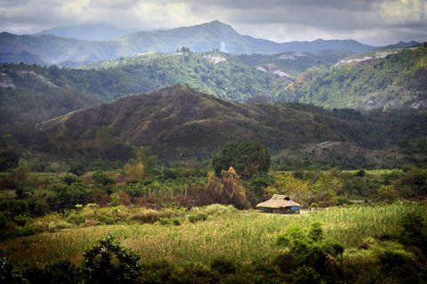 View of Zambales Mountain Range from the city of Bataan.